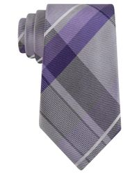 Geoffrey Beene | Gray Men's Far And Wide Classic Plaid Tie for Men | Lyst