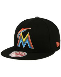 KTZ | Black Miami Marlins Reflect On 9fifty Snapback Cap for Men | Lyst