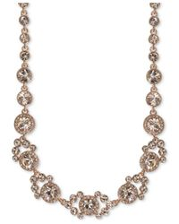 Givenchy | Metallic Rose Gold-tone Crystal Collar Necklace | Lyst