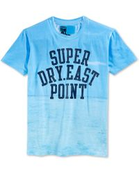 Superdry Blue Men's Beach Classic Laguna T-shirt for men