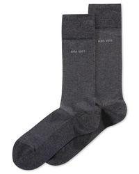 BOSS Blue Boss Mercerized Cotton Herringbone Socks for men