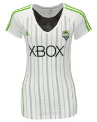 Adidas Originals - White Women's Seattle Sounders Fc Club T-shirt - Lyst