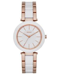DKNY | Metallic Women's Stanhope Two-tone Stainless Steel And Ceramic Bracelet Watch 36mm Ny2500 | Lyst