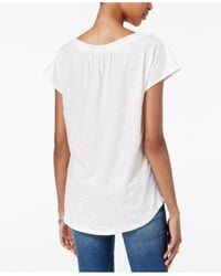 Lucky Brand - White Short-sleeve Embroidered Top - Lyst