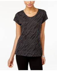 Style & Co. - Gray Printed T-shirt, Only At Macy's - Lyst