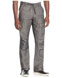 Sean John   Gray Men's Pleat Pocket Flight Cargo Pants, Only At Macy's for Men   Lyst