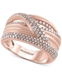 Macy's - Pink Diamond Weave Ring (5/8 Ct. T.w.) In 14k Rose Gold - Lyst