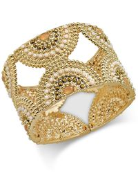 INC International Concepts | Metallic Gold-tone Multi-beaded Decorative Stretch Bracelet, Only At Macy's | Lyst