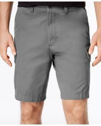 Geoffrey Beene | Gray Men's Big And Tall Washed Twill Cargo Shorts for Men | Lyst