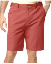 Geoffrey Beene | Red Big And Tall Extender Waist Flat Front Shorts for Men | Lyst