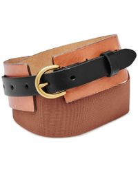 Fossil | Multicolor Colorblock Leather Waist Belt | Lyst