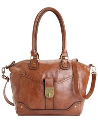 Style & Co. | Brown Twistlock Satchel Crossbody, Only At Macy's | Lyst