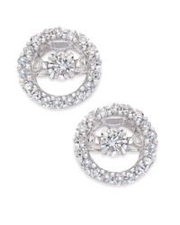 Macy's - Metallic Diamond Circle Stud Earrings (1/3 Ct. Tw.) In 14k White Gold - Lyst