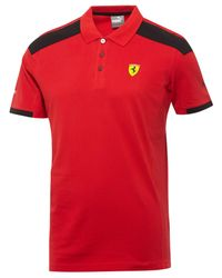 PUMA   Red Men's Ferrari Polo for Men   Lyst