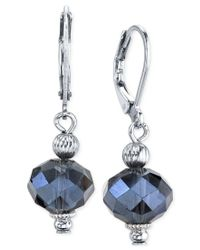 2028 | Silver-tone Blue Bead Drop Earrings, A Macy's Exclusive Style | Lyst