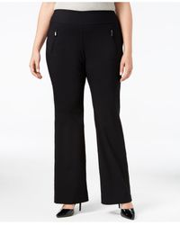 INC International Concepts | Black Plus Size Wide-leg Pants, Only At Macy's | Lyst