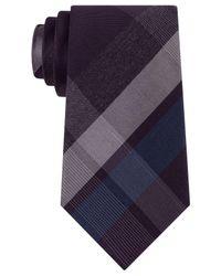 Kenneth Cole Reaction | Purple Men's Glacier Plaid Slim Tie for Men | Lyst