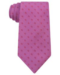 Calvin Klein - Purple Men's Sunrise Disc Neat Slim Tie for Men - Lyst