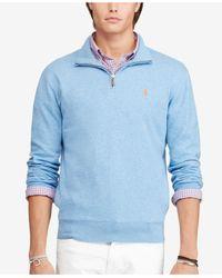 Polo Ralph Lauren Blue Men's Half-zip Pullover for men