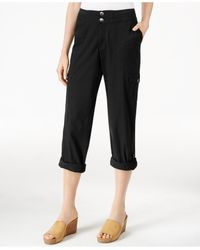 Style & Co. | Black Petite Convertible Cargo Pants, Only At Macy's | Lyst