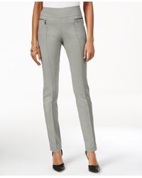 Style & Co.   Gray Petite Pull-on Skinny Pants, Only At Macy's   Lyst