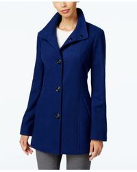 INC International Concepts | Blue Stand-collar Peacoat, Only At Macy's | Lyst