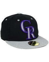 KTZ - Black Colorado Rockies Full Heather Xl Logo 59fifty Cap for Men - Lyst