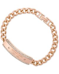 Michael Kors | Metallic Chain Logo-plate Bracelet, First At Macy's | Lyst