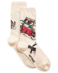 Hot Sox | Multicolor Women's Look Out Below Socks | Lyst