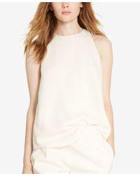 Polo Ralph Lauren | Natural Cady Sleeveless Top | Lyst