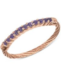 Charriol | Multicolor Women's Amethyst Crystal Rose Gold-tone Pvd Stainless Steel Cable Ring | Lyst