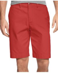 Tommy Hilfiger Red Big & Tall Casual Chino Shorts for men