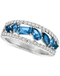Le Vian | Multicolor Sapphire (1 Ct. T.w.) And Diamond (3/8 Ct. T.w.) Ring In 14k White Gold | Lyst
