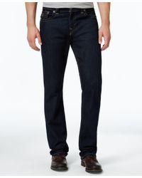 True Religion | Blue Men's Ricky Straight-fit Dark-rinse Jeans for Men | Lyst