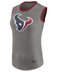 Nike - Gray Women's Houston Texans Standard Tri Tank - Lyst