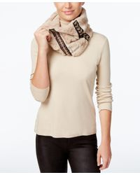 INC International Concepts | Natural Embellished Faux Fur Cowl Loop, Only At Macy's | Lyst