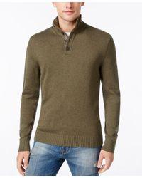 Tommy Hilfiger - Green Men's Pima Cashmere Sweater for Men - Lyst