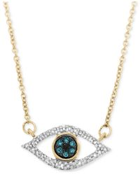 Wrapped in Love | Metallic In Love Diamond Evil-eye Pendant Necklace (1/6 Ct. T.w.) In 10k Gold, Only At Macy's | Lyst