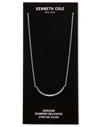 Kenneth Cole | Metallic Curved Diamond Accent Bar Collar Necklace | Lyst