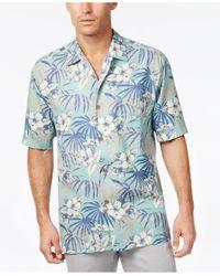 Tommy Bahama | Blue Men's Big & Tall Hibiscus De Cuba Floral-print Short-sleeve Shirt for Men | Lyst