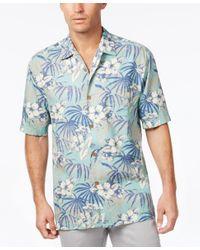 Tommy Bahama   Blue Men's Big & Tall Hibiscus De Cuba Floral-print Silk Short-sleeve Shirt for Men   Lyst