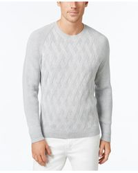 Tommy Bahama   Gray Men's Ocean Crest Lattice Knit Sweater for Men   Lyst