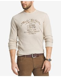 G.H. Bass & Co. | White Men's Big And Tall Thermal Knit Graphic-print Shirt for Men | Lyst