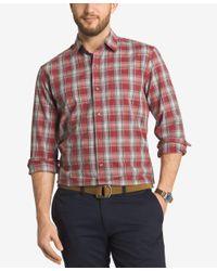 G.H. Bass & Co. | Red Men's Plaid Long-sleeve Shirt for Men | Lyst