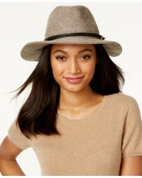 Vince Camuto   Black Heathered Panama Hat   Lyst