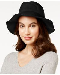 Vince Camuto | Black Asymmetrical Panama Hat | Lyst