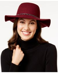 BCBGeneration | Red Dripping With Imitation Pearls Floppy Hat | Lyst