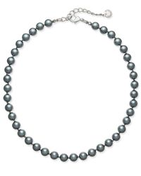 Charter Club | Metallic Silver-tone Gray Imitation Pearl Collar Necklace, Only At Macy's | Lyst