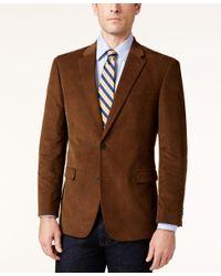 Tommy Hilfiger | Brown Men's Slim-fit Corduroy Elbow Patch Sport Coat for Men | Lyst