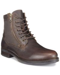 Kenneth Cole Reaction | Brown Men's Lance Boots for Men | Lyst